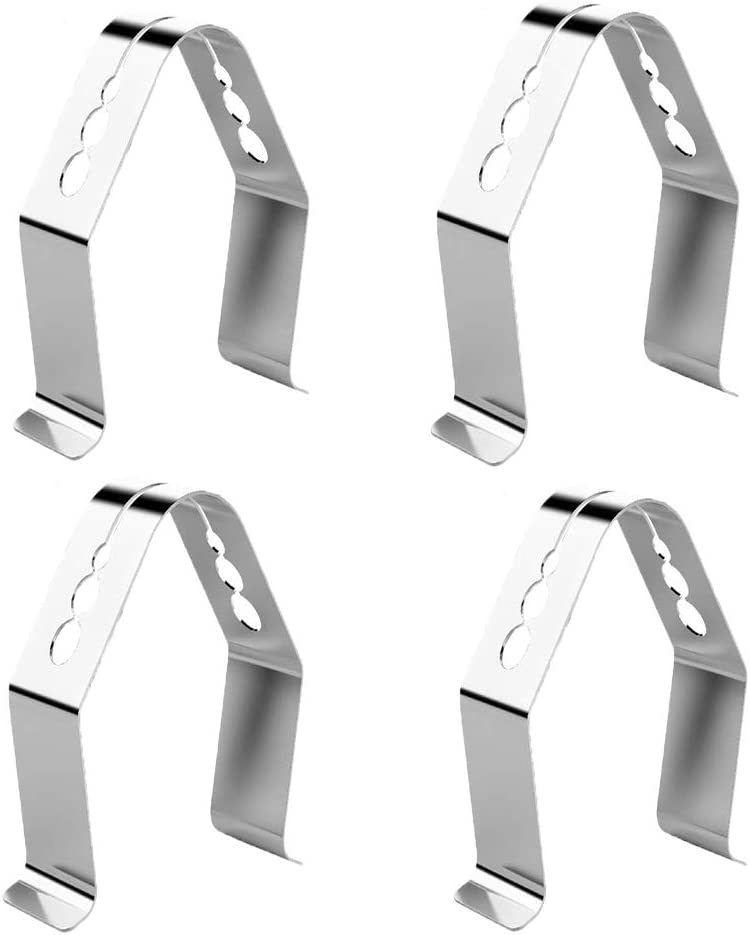 Universal Style BBQ Meat Thermometer Probe Clip for Ambient Temperature Readings for BBQ Smokers Grill Oven (Set of 4)