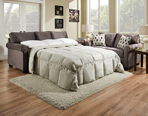 Simmons Upholstery 1530-04Q JoJo Smoke Sleeper Sofa, Queen, ()