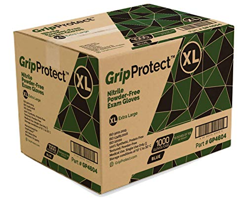 GripProtect Nitrile Exam Gloves, X-Large, 1000/Case by Nitrile (Image #1)
