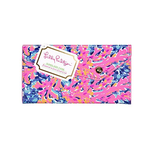 Lilly Pulitzer Girls' Sunglass Case K, Coco Coral Crab, 0 M US - Logo K Sunglasses