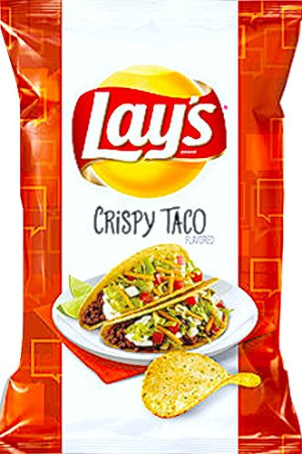NEW Lay's Crispy Taco Flavored Potato Chips 7.75 Oz -