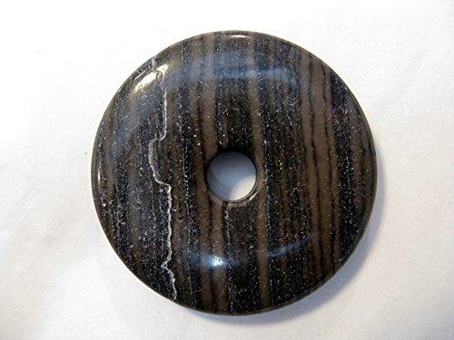 Natural mente–Donut, env. 4cm, pendentif, collier Bandes Jaspe, pierres précieuses, bandes, Semi, jaspe, n ° 2