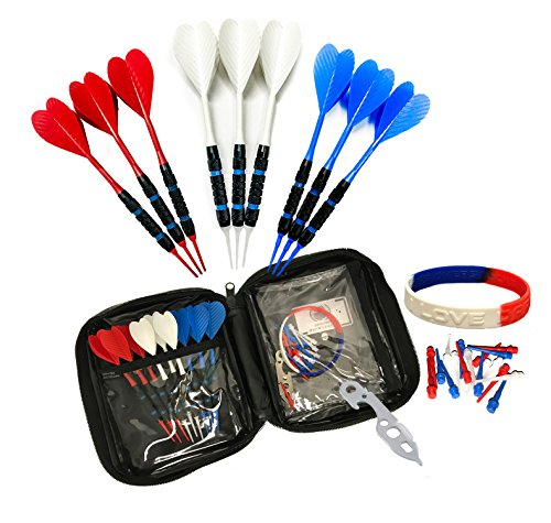 te & Blue Eagle Onesies Gossamer Ribbed Commercial Grade 2ba 16g Soft Tip Bar Darts (Halex Soft Tip)