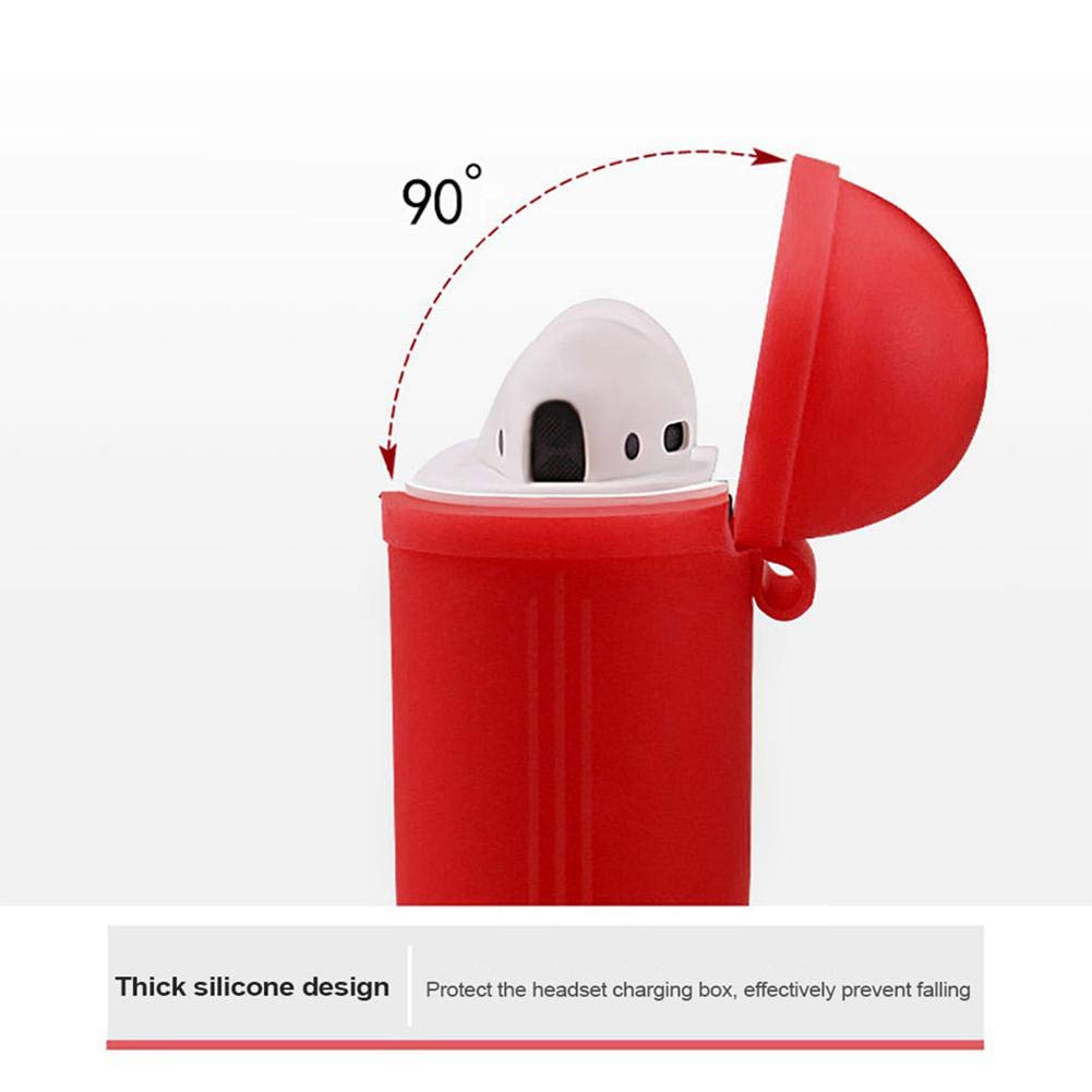 Portable Shockproof Protective Cover Sleeve Skin Cover for Apple AirPods Earphones Leegoal Case for Airpods