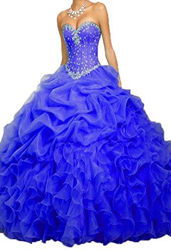 (PromQueen Women's Beaded Ball Gown Sweet 16 Dresses Princess Quinceanera)