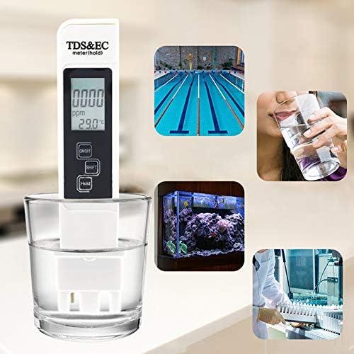 Litthing Testeur de Qualit/é de leau M/ètre Digital TDS 0-5000ppm PPM EC Temp/érature Pas PH pour leau Potable Piscines Aquariums Hydroponie