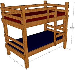 Amazon Com Bunk Bed Plans Rustic Twin Ebook Bunkplans Wordpress