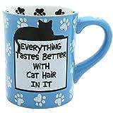 "Our Name is Mud ""Cat Hair"" Stoneware Mug, 16 oz."