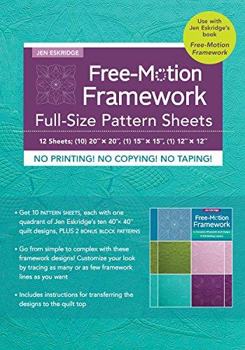 Free-Motion Framework Full Size Pattern Sheets by Stash Books