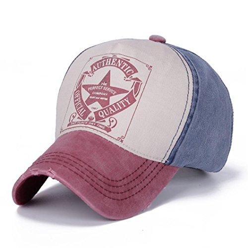 Tpingfe Baseball Ball Cap, Men Women Vintage Star Snapback Outdoor Sports Hats Adjustable (F) (Curtain Beading)