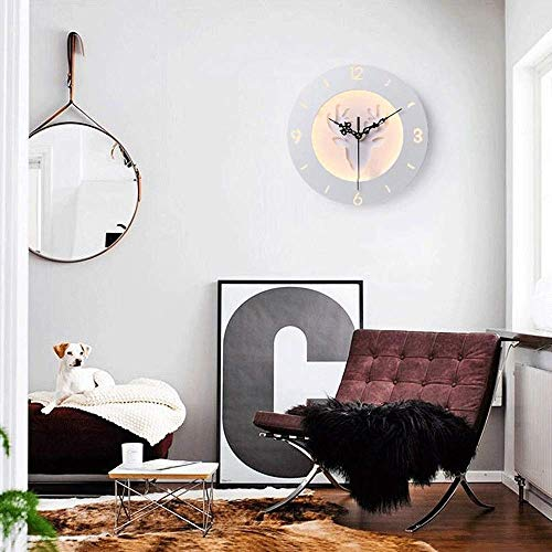 (ChuanHan Ceiling Fan Light Chandelier Lightings Wall Lamp Wall Deer Head Wall Clock Table Lamp Lamp Living Room Creative Decorating t Wallpaper Hanging Wall Lamp )