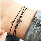 Simsly cavigliera braccialetto piede catena accessori con tartaruga di mare gioielli per donne e ragazze jl-056