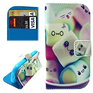 Lovely Marshomallow Pattern Horizontal Flip Leather Case with Card Slots & Wallet & Holder for Samsung Galaxy Ace Style / SM-G310