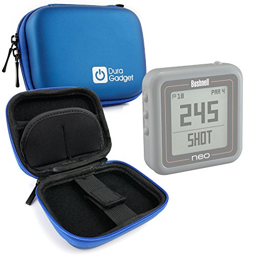 DURAGADGET Blue Hard EVA Shell Case with Carabiner Clip & Twin Zips - Suitable for The Bushnell Neo Ghost Golf GPS