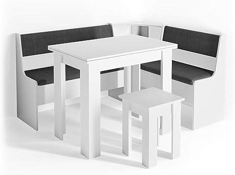 Vicco Corner Seating Set Roman Dining Room Set Corner Bench Seating Set Table Stool Amazon De Kuche Haushalt