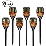 ground level deck plans OxyLED 6-Pack Solar Torch Lights Outdoors, Garden Pathway Light with Realistic Dancing Flames, Waterproof Landscape Lighting with Auto On/Off Dusk to Dawn for Halloween Christmas Lights Decorations