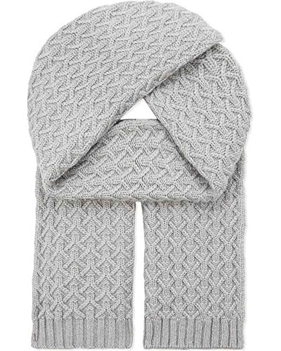 Graham Cashmere Women's Unisex Pure Cashmere Quilted Knit Scarf One size (Johnstons Cashmere)