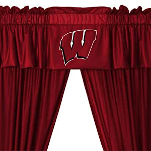 NCAA Wisconsin Badgers 5pc Jersey Curtains and Valance Set