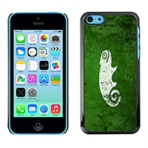 NUMO Premium slim Aliminium Casa Carcasa Funda Case Bandera Cover Armor Shell / cool funny cute green nature chameleon / Apple Iphone 5C