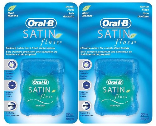 Oral-B 54 Yards Floss Satin Mint (6 Pieces)