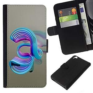 // PHONE CASE GIFT // Moda Estuche Funda de Cuero Billetera Tarjeta de crédito dinero bolsa Cubierta de proteccion Caso HTC Desire 820 / Abstract Swirls /
