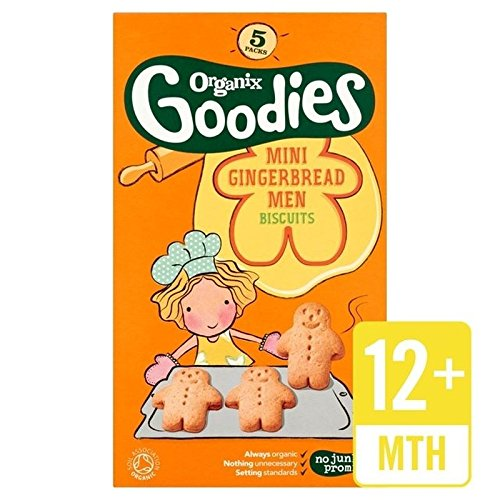 Organix Mini Gingerbread Men Biscuits 125g - Pack of 2