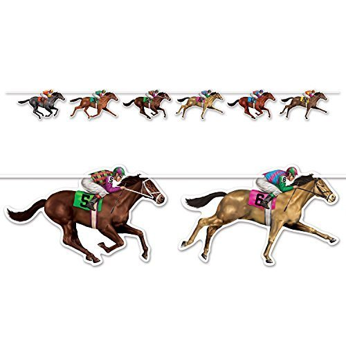 Horse Racing Streamer 10.5-Inch by 6-Feet (1-Count) -