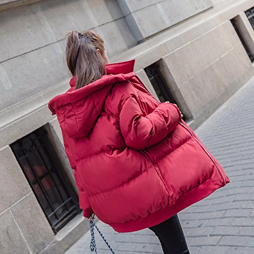 Xuanku Cotton Ladies' Category Harajuku Bread Winter Clothes Loose Short, Feather Cotton Coat Jacket red