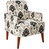 Homelegance Roper Contemporary Ikat Printed Fabric Accent Chair, Beige