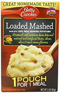 Betty Crocker Mashed Potatoes, Loaded, 3 Ounce (Pack of 12)