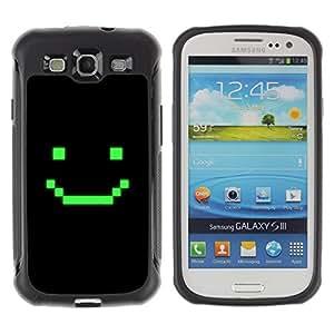WAWU Funda Carcasa Bumper con Absorci??e Impactos y Anti-Ara??s Espalda Slim Rugged Armor -- computer game art smiley emoticon -- Samsung Galaxy S3 I9300