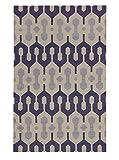 capel Genevieve Gorder Spain Rectangle Flat Woven Rugs (5' x 8') Purple