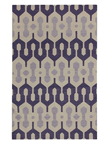 capel Genevieve Gorder Spain Rectangle Flat Woven Rugs (5' x 8') Purple by Capel