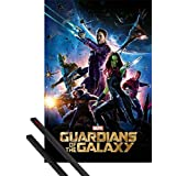 Poster + Hanger: Guardians Of The Galaxy Poster (36x24 inches) Gamora, Nebula, Rocket Raccoon, Groot And Drax The Destroyer And 1 Set Of Black 1art1® Poster Hangers