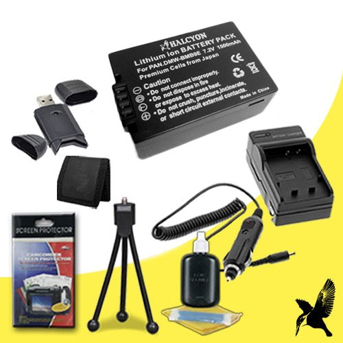 Halcyon 1500 mAH Lithium Ion Replacement BPDC9 Battery and Charger Kit + Memory Card Wallet + SDHC Card USB Reader + Deluxe Starter Kit for Leica V-LUX 2, V-LUX 3 Digital Cameras and Leica BPDC9 by Halcyon