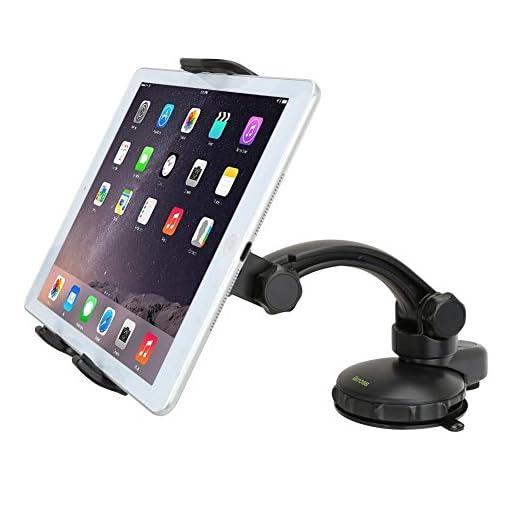 Tablet Dashboard Mount - iKross Car Windshield Surface Mount Holder Kit with Strong Gel Pad Suction - Black for SUV, Truck, Van, Uber, Lyft Driver Navigation Maps