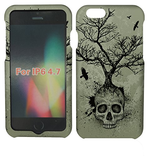 2D Skull Tree For Apple Iphone 6 Case Cover Hard Phone Case Snap-on Cover Protector Rubberized Touch Faceplates