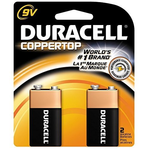 Duracell Coppertop Alkaline Batteries 9 Volt 2 Each (Pack of 18) by Duracell