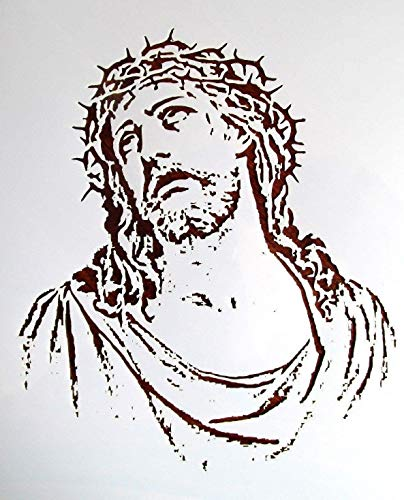 Stencil Reusable Religious Jesus Christ 10 mil Mylar Laser Cut for Painting on Wood, Art Craft, Airbrush, 7 1/2