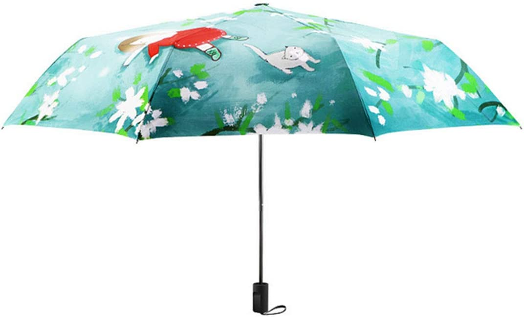 Adultes Ombrelle,Compact Parapluie Pliant Anti-UV Parasol Coupe-Vent Parasol,Cadre renforc/é r/ésistant au Vent,Ouverture//Fermeture Automatique,Convient aux Enfants B/égonia