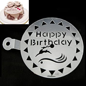 Birthday Cake Deco Stencils Happy Gateaux Stencil Decor Cakes Deko