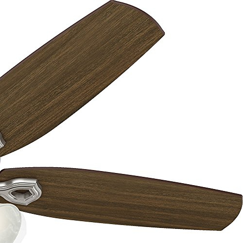 Hunter 53237 Builder Plus 52-Inch Ceiling Fan with Five Brazilian Cherry/Harvest Mahogany Blades and Swirled Marble Glass Light Kit, Brushed Nickel by Hunter Fan Company (Image #12)