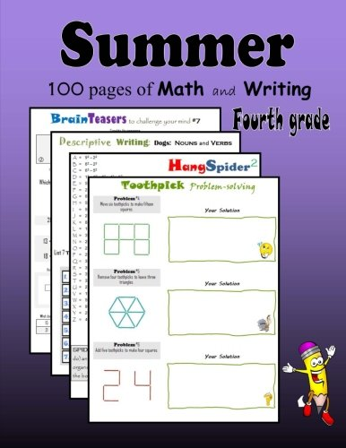Summer Math and Writing:  Fourth grade