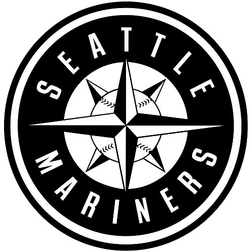 Baseball Vinyl Sticker Seattle Mariners Art Mural Sports Club Logo Wall Decal MLB Team Symbol Stencil Major League Sporting Sign Poster Interior Fans Decoration Athletic Housewares Print Pattern Decor