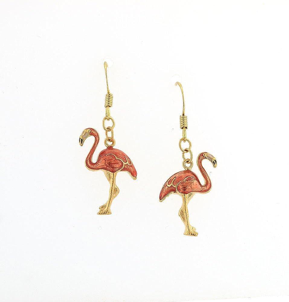 flamingo charm earring silver flamingo dangly earrings silver flamingo earrings Flamingo earrings bird lover gift flamingo fan gift