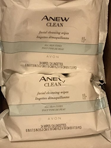 Anew Clean Facial Cleansing Wipes 24 wipes lot 2 pcs (Avon Facial Wipes)