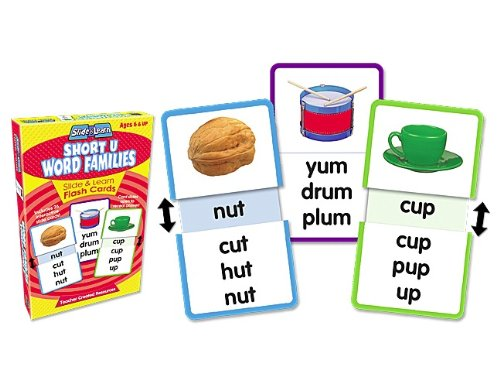 Word Families Short - Teacher Created Resources Word Families - Short U Slide & Learn Flash Cards (6562)