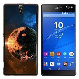 EJOOY---Cubierta de la caja de protección para la piel dura ** Sony Xperia C5 Ultra ** --Apocalypse Doomsday Planet Fuego Sun Star Cosmos