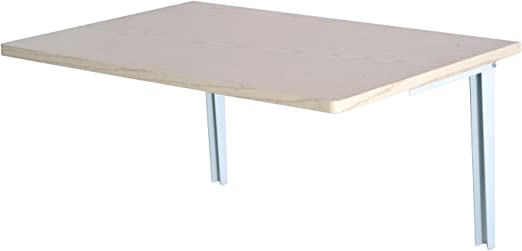 HOMCOM Wandklapptisch Wandtisch Klapptisch Esstisch Schreibtisch, MDF, Naturweiß, 60x40cm (Natur)