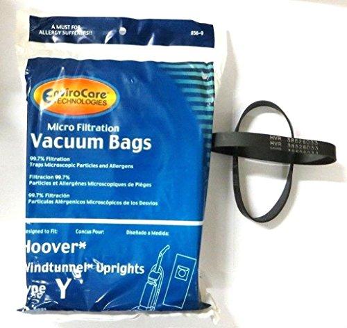 Hoover Part#4010100Y - (9 Type Y bags & (2) 38528-033 belts) (Hoover Tempo Widepath Vacuum)